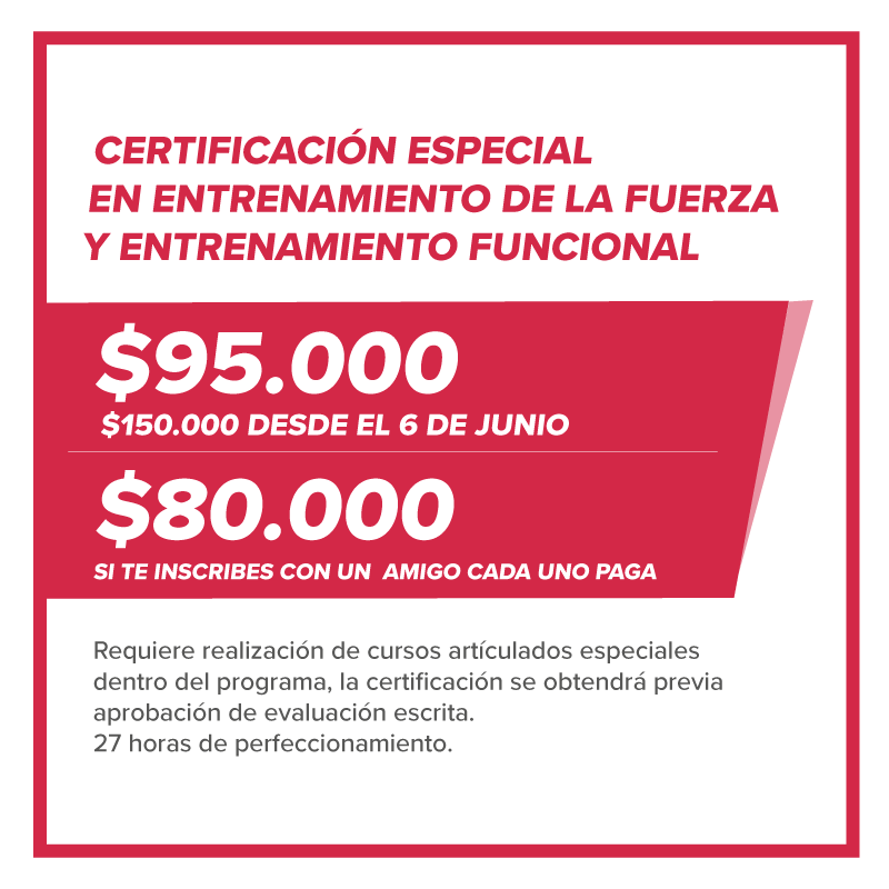 Certificación especial