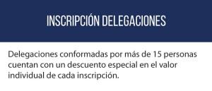 Inscripción delegaciones